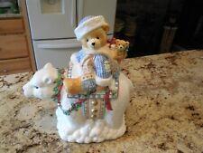 1996 Cherished Teddies by Priscilla Hillman Christmas White Polar Bear Cookie