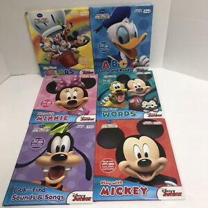 Lot Of 5 Disney Junior My 1st Smart Pad Books Clubhouse Mickey & Minnie Mouse