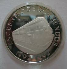 Colombia 10000Pesos 1991 Silver Proof Coin Ibero-American Series Old Bogota Mint