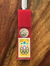letter opener Montreal Olympics 1976 with stamp and coin