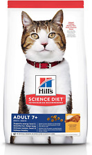 Hill's Science Diet Dry Cat Food, Adult 7+ for Senior Cats, Chicken Recipe, 4 lb