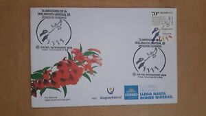 Uruguay FDC, 70 years of the universal declaration of human rights