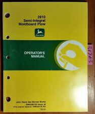 John Deere 2810 Semi-Integral Moldboard Plow Owner Operator Manual Omn200125 '99