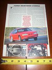 1993 FORD MUSTANG COBRA - ORIGINAL ARTICLE