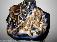 "NWT VERSACE BAROQUE100% SILK Sq. 34"" MULTI-COLOR SCARF made in Italy"