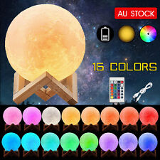 3D Magical Table USB Moon Light Dimmable Touch Sensor Desk Night Lamp Decor Gift
