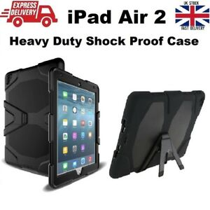 New Hybrid Shockproof Armour Hard Silicone Rubber Cover Case for iPad Air 2