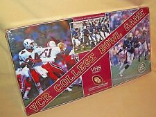 FOOTBALL GAME VCR COLLEGE BOWL NEW SEALED 1987 VHS FORMAT VIDEO CASSETTE RETRO