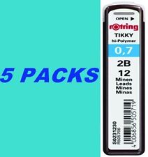 Rotring Tikky Lead Refill 0.7 mm 2B Hi Polymer Mechanical Pencil 5 Pack 60