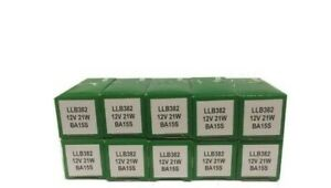 10x Genuine Lucas LLB382 382  SCC 12v 21W indicator Fog Reverse Brake bulb 382