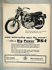 BSA Motorcycle PRINT AD - 1963 ~~ Super Rocket 650