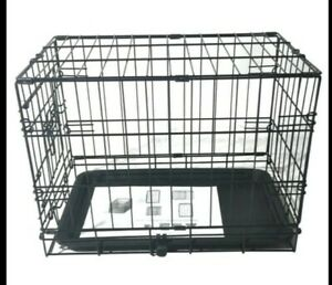"20"" Pet Kennel Cat Rabbit Puppy Folding Steel Crate Playpen Wire Metal Cage"