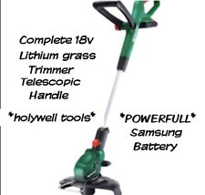 Qualcast 18v Cordless Grass Trimmer telescopic 1.5A 25cm lithium comlete kit