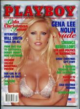 Playboy Magazine December 2001 Gena Lee Nolin Beyond Viagra Will Smith Interview