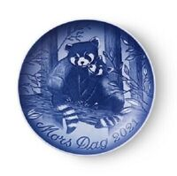 2021 B&G Bing & Grondahl Mother's Day Plate RED PANDA AND CUB Plate in Box