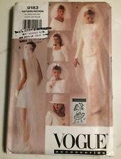 Vogue 9183 Bridal Veil Sewing Pattern Hat Millinery Headpiece Costume Wedding