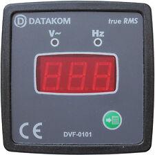 DATAKOM DVF-0101 72x72 Voltímetro Digital e Painel de Freqüência (1 Fase)