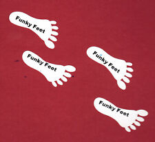 Funky Feet shoe stickers, self adhesive 10 pairs