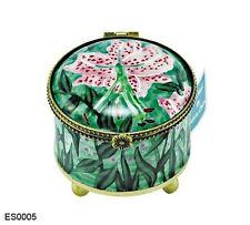 Kelvin Chen Enamel Hand painted Copper Stamp Dispenser Holder - Asiatic Lily