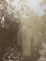 Vintage BW Real Photo #BS: Young Woman In Garden