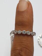 F/VS 1.00 Carat Bezel Set Full Eternity Ring Wedding Ring, 18K White Gold