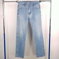 Rustler Straight Leg Denim Blue Jeans Mens Tag Size 32x34