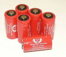 6 CR123A 3V Lithium Battery for alarm laser flashlight USA FRESH INDUSTRIAL USE
