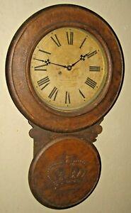 Rare Antique Baird Advertising Regulator Store Clock Lovell Philadelphia Working