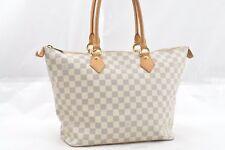 Authentic Louis Vuitton Damier Azur Saleya MM Shoulder Tote Bag N51185 LV 52312