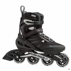 Rollerblade Zetrablade Men's Adult Fitness Inline Skate, Black/Silver, Size 9