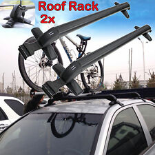 Pair Universal Cars Black Anti Theft Car Roof Bars Without Rails Lockable Rack