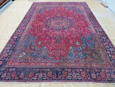 A GORGEOUS OLD HANDMADE TRADITIONAL ORIENTAL CARPET (376 x 263 cm)