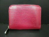 Authentic Louis Vuitton Epi Zippy Coin Purse M60383 Fuchsia Wallet Good 86550