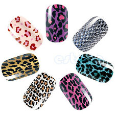 Hot Sale Leopard Adhesive Nail Art Polish Foils Sticker Tip Decoration DIY New