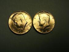 KENNEDY HALF DOLLARS     1964  D   (2pcs)  UNC