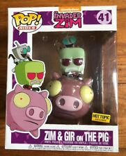 FUNKO POP INVADER ZIM SERIES ZIM & GIR ON THE PIG HOT TOPIC EXCLUSIVE