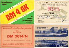 QSL RADIO CARDS 110 mostly Eastern Europe