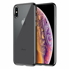 Slim Transparent Case with TPU Frame for Apple iPhone Xs Max -Black/Clear