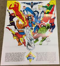 Jim Steranko Collection! Vintage 1973 SIGNED FOOM Art Poster Hulk Spiderman Cap
