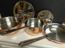 Cuisinart Copper Exterior  Stainless Steel 5-Piece Cookware Set Pots Pan