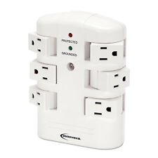 Innovera Wall Mount Surge Protector 6 Outlets 2160 Joules White 71651