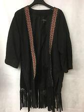 Muubaa Women's Black Aztec Style Tassel Jacket. Size UK 8. RRP £499.