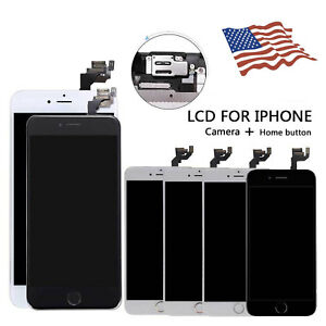 LCD Display Screen Touch Replacement Camera Home Button For iPhone 6 6s 6s Plus