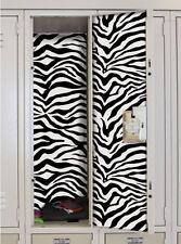 SCHOOL LOCKER BLACK ZEBRA SKIN decal peel & stick wallpaper sticker animal print