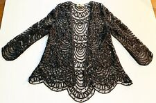Mother Of The Bride Dress Soulmates-Three Pc Hand Crochet Lace. Silk Size M NWT