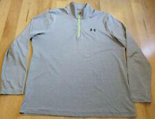 Under Armour Loose Heatgear Men's 1/4 Zip Long Sleeve Shirt Size Xl