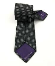 RALPH LAUREN PURPLE LABEL Silk Tie Hand Made Italy Black White Geometric