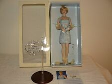 Franklin Mint Princess Diana Porcelain Doll In The Ice Blue Shift With COA