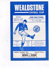 ENFIELD V HENDON LONDON SENIOR CUP FINAL @ WEALDSTONE   12/5/72