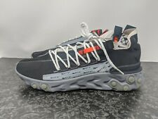 Nike AR8555-001 React WR ISPA Men Black Metallic Silver Gunsmoke Size 10.5 NEW